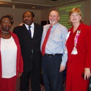 Bill & Darlene Davis (Restoration Team Ministries) with Musa & Eunice Bako (Victory Assembly)